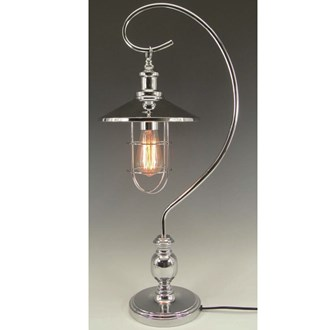 Edison Bulb Desk Lamp Silver 59cm