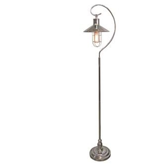 Edison Bulb Hook Lamp Silver 157cm