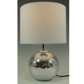 Crackled Ball Lamp Silver 30cm