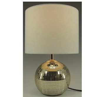 Crackled Ball Lamp Gold 30cm
