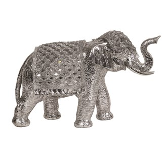 Decorative Elephant Silver 41cm