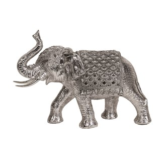 Trunk Up Elephant Silver 30cm