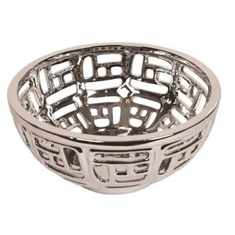 Silver Lattice Bowl 25cm