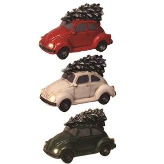 LED VW Beetle 11x7cm 3 Assorted