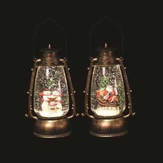 Glitter Lantern 24.5cm 2 Assorted