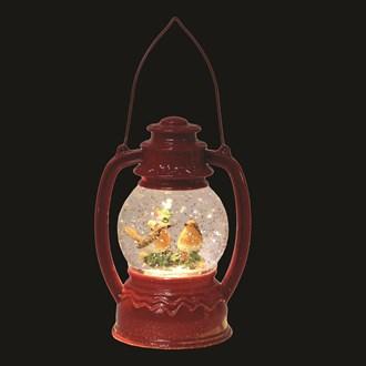 LED Robin Lantern Red