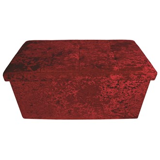 Foldable Ottoman Red 76cm