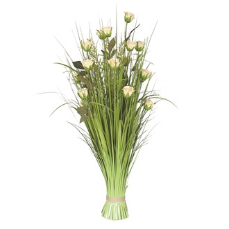 Grass Floral Bundle Rose 100cm