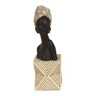 African Lady Bust 11.5x31cm
