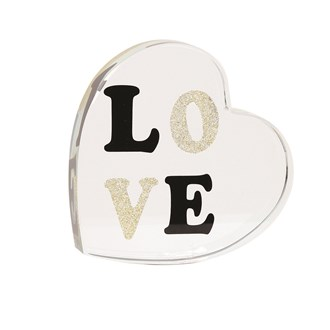 Black & Gold Love Paperweight 9cm