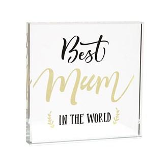 Best Mum Paperweight 12cm