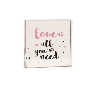 Love All Need Paperweight 8cm