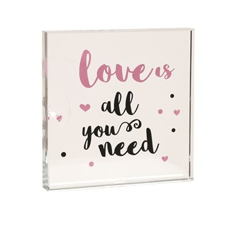Love All Need Paperweight 12cm