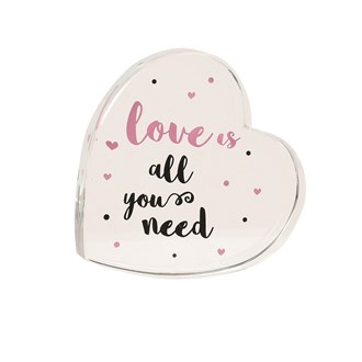 Love All Need Paperweight 9cm