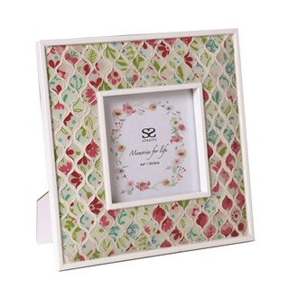 Floral Mosaic Photo Frame 4x4