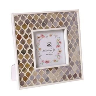 Coral Mosaic Photo Frame 4x4