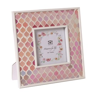 Pink Mosaic Photo Frame 4x4