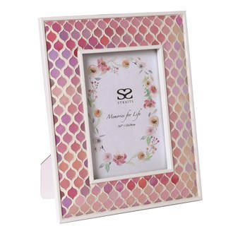 Pink Mosaic Photo Frame 5x7