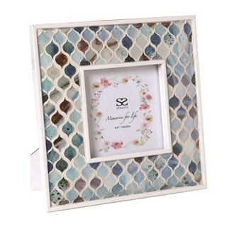 Coastal Mosaic Photo Frame 4x4