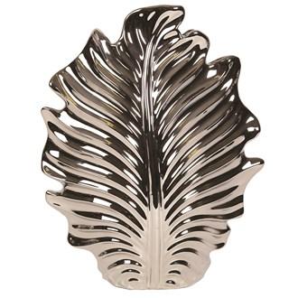 Silver Leaf Decorative Vase 37.5cm