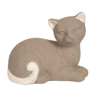 Laying Cat Grey 15.5x12cm