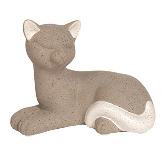 Laying Cat Grey  17.5.5x13.5cm