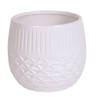 White Ceramic Planter 13.5cm
