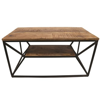 Mango Wood Coffee Table 90x48cm