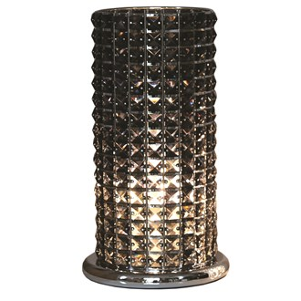 Black Crystal Touch Lamp 38cm