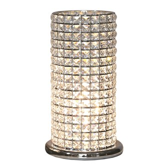 Clear Crystal Touch Lamp 38cm
