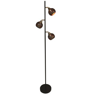 Gold and Black Floor Lamp 166cm