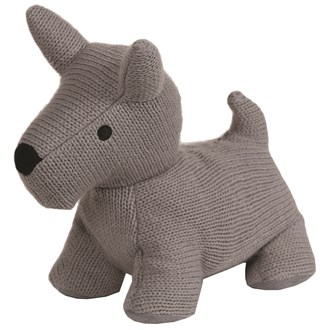 Grey Terrier Doorstop 27cm