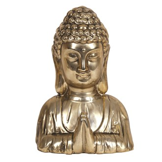Gold Buddha Head 21cm