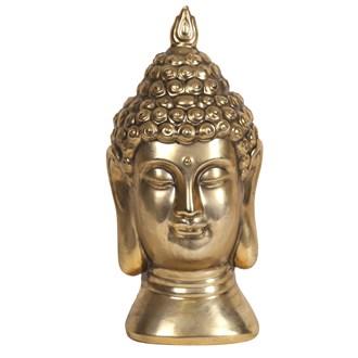 Gold Buddha Head 18.5cm