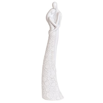 Embracing Couple White 42cm
