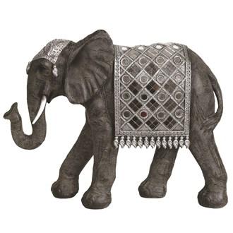 Mirrored Elephant 36cm