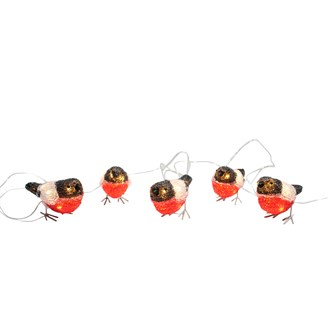 LED Robin Lighting Chain 5 Metres