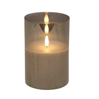 LED Grey Candle 10x15cm