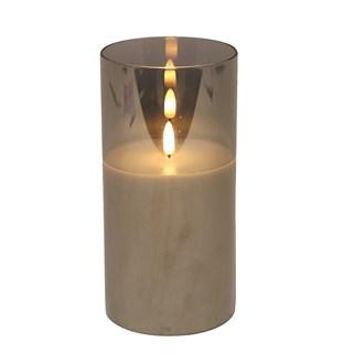 LED Gey Candle 10x20cm