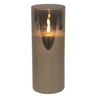 LED Grey Candle 10 x25cm