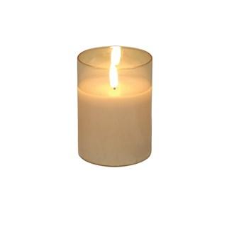 LED Gold Candle 7.5 x10cm