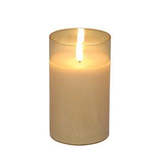 LED Gold Candle 7.5 x12.5cm