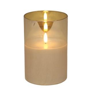 LED Gold Candle 10x15cm