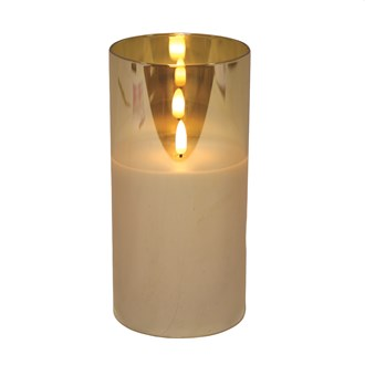 LED Gold Candle 10x20cm