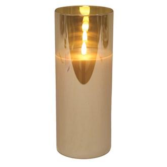 LED Gold Candle 10 x25cm