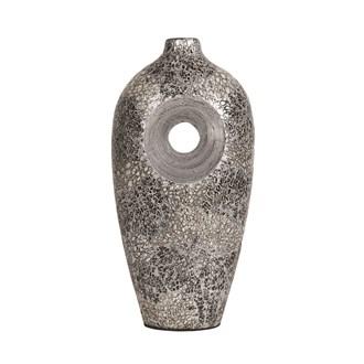Grey Silver Eggshell Vase 41cm