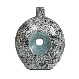Blue Silver Eggshell Vase 31cm