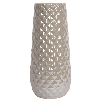 Grey Lustre Vase 32cm