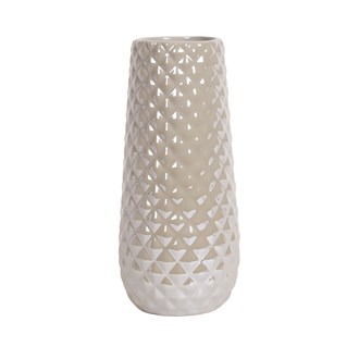 Grey Lustre Vase 25cm