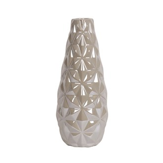 Grey Lustre Teardrop Vase25cm